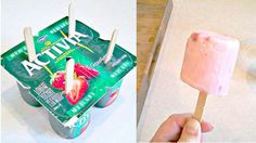 One-Step Frozen Yogurt Pops - Brilliant!  (especially after the scorcher weekend we just had)