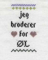 geriljabroderi - Google-søk Hardanger Embroidery, Cross Stitch, Crafty, Humor, Stitches, Quotes, Eggs, Quotations, Punto De Cruz