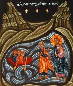 Jesus Walking on Water icon by Eka & Eri Fragiadaki