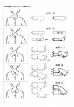 I like this top collar not sure what to call it looking forward to learning more about these necklines collars modelagenAll Things Sewing and Pattern MakingFashion model illustration moda Ideas for gallery – Page 585186545310949913 – Ar Pattern Cutting, Pattern Making, Dress Sewing Patterns, Clothing Patterns, Sewing Clothes, Diy Clothes, Sewing Hacks, Sewing Tutorials, Formation Couture