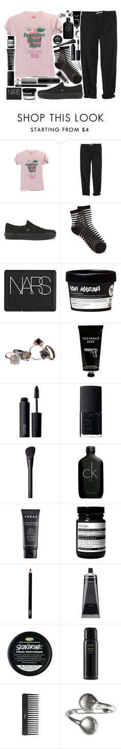 """peachtree"" by velvet-ears ❤ liked on Polyvore featuring GG 750, Vans, NARS Cosmetics, Made Her Think, TokyoMilk, MAC Cosmetics, Calvin Klein, LORAC, Aesop and BOBBY"