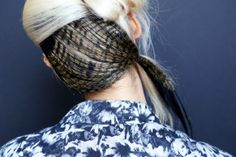 Rodarte- Looks like pheasant feathers hidden under platinum blonde- So cool and different! Straight Hairstyles, Braided Hairstyles, Cool Hairstyles, Runway Hair, Henna Hair, Golden Hair, Unwanted Hair, Crazy Hair, Platinum Blonde