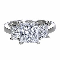 Giraux Fine Jewelry Princess Cut Three Stone Ring  Item #: GXJ4232      Two exquisite princess cut diamonds perfectly compliment your center stone selection.  - See more at: http://www.giraux.com/Jewelry/3-Stone-Rings/GXJ4232#sthash.WJqRFlo8.dpuf  #girauxfinejewelry