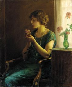 Charles Courtney Curran (American, 1861-1942). The Full Blown Rose