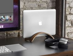 Bookarc Mod Vertical #MacBook Stand by Twelve South  Make your #workspace look more tidy!