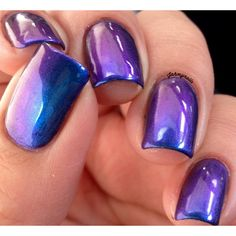 PURPLE HAZE -Multi-Chrome Color Shifting Nail Polish Puple, Green,... (16 BAM) ❤ liked on Polyvore featuring beauty products, nail care, nail polish, nails, beauty, makeup, accessories, green nail polish, blue green nail polish and blue purple nail polish