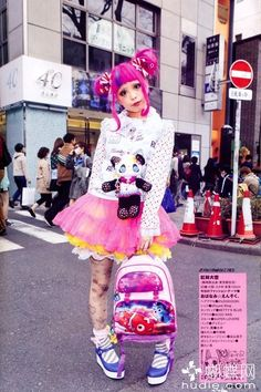 Dress like a Harajuku girl Harajuku Mode, Harajuku Girls, Harajuku Fashion, Kawaii Fashion, Lolita Fashion, Cute Fashion, Fashion Looks, Harajuku Style, Tokyo Street Fashion