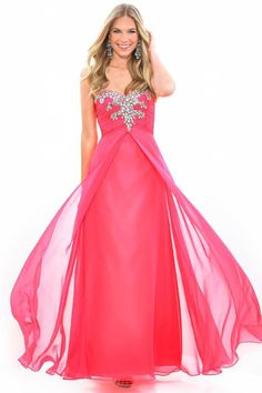 2014 Prom Dress Sweetheart Embellished With Beads Pleated Bodice Pick Up Layered Chiffon Skirt
