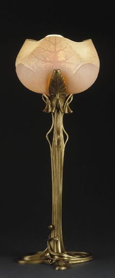 Art nouveau table lamp by famous artist Louis Majorelle, c.1902-1904 | Japan Times   ᘡղbᘠ