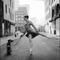 #Ballerina - @meganlecrone in #DUMBO #Brooklyn #newyorkcity #ballerinaproject_ #ballerinaproject #ballet #dance #dog