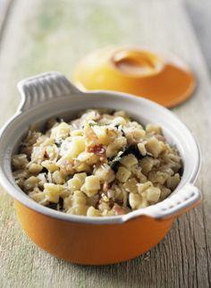 Magazine Gastronomie et Vins | Cocotte de crozets au jambon cru de montagne et à la sauge