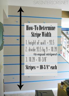 How To Determine Stripe Width + Tips  and Tricks for painting straight, crisp, perfect stripes