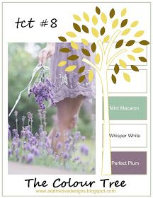 addINKtive designs: The Colour Tree #8 - Mint Macaron, Whisper White and Perfect Plum