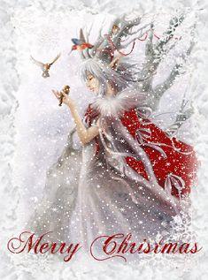 Christmas Snow - My most creative list Christmas Fairy, Christmas Scenes, Christmas Past, Christmas Pictures, Christmas Greetings, Winter Christmas, Xmas, Illustration Noel, Christmas Illustration