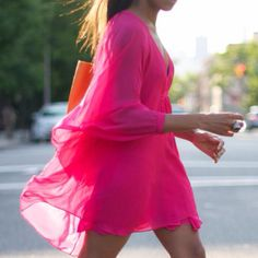 Cute dress and LOVE hot pink!