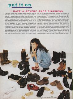 From the September 1994 issue. Andrea Lee Linett used to work for Lucky Magazine, but now she has an online fashion project called I want to be her.