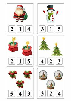 Christmas Worksheets, Christmas Math, Christmas Activities For Kids, Winter Crafts For Kids, Preschool Christmas, Math For Kids, Noel Christmas, 3 Year Old Preschool, Fall Preschool