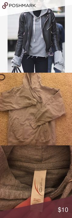 Basic Gray Hoodie Super soft . Fits M-L . Only worn twice. Offer and bundle 💕 Tops Sweatshirts & Hoodies