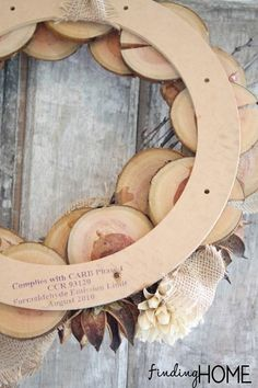 BurlapNaturalFallWreath thumb Wood & Burlap Natural Fall Wreath