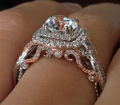 Verragio rings are famous for their attention to detail, especially the gorgeous gallery (side view of the ring)