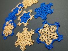 Collection of 12 beautiful glossy crochet by Handicraftshed