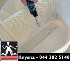 #DIYTip: Use a bucket instead of a tray. Instead of pouring from a gallon into a tray, you can dump the whole gallon into a five-gallon bucket with a paint screen. It's far easier and less messy to load paint this way. #PennypinchersKnysna
