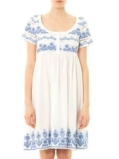 Collette by Collette Dinnigan Bora Bora embroidered dress. Also on the blue and white pretty tip.