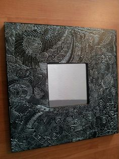 IKEA hack - Malma mirror painted with glass outliner Ikea Mirror Hack, Craft Projects, Projects To Try, Stained Glass, New Homes, Mirror Ideas, Diy Crafts, Ikea Hacks, Frame