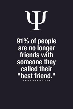 """91% of people are no longer friends with someone they called their """"best friend."""""""