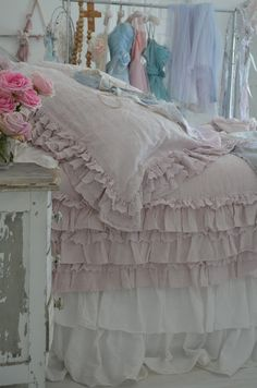 Add Layers of Ruffles for this Shabby Chic Look! See More at thefrencinspiredroom.com