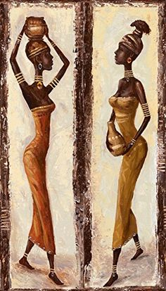 Moderne Kunst Bilder - A. African Wall Art, African Art Paintings, Mural Wall Art, Mural Painting, African Drawings, Home Bild, Indian Women Painting, Africa Art, Black Artwork
