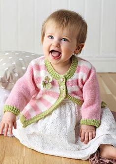 As a special treat, we are offering you our very own cardigan pattern, knitted in Deramores Baby DK, for absolutely FREE! It's only available for a limited time, so grab it while you can! Baby Cardigan Knitting Pattern, Knitted Baby Cardigan, Knitted Baby Clothes, Baby Knitting Patterns, Baby Patterns, Baby Girl Cardigans, Baby Sweaters, Knitting Books, Knitting For Kids
