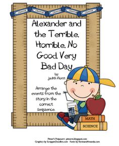 Pitner's Potpourri: Alexander and the Terrible, Horrible, No Good, Very Bad Day - Sequencing Freebie
