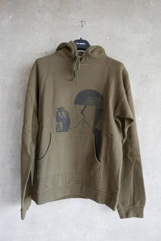 Raf Simons Green Fitted Sweat Hood Print Size M $288 - Grailed