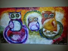 Colorful Oil Acrylic Painting