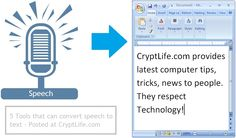 5 Best Tools to Convert Speech to Text | Crypt Life