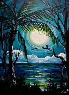 Cool Paintings, Beach Paintings, Acrylic Paintings, Drawing Painting, Painting Inspiration, Easy Acrylic Painting Ideas, Easy Wine And Canvas Paintings, ...
