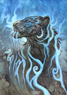 Ghost Tiger by Exileden monster beast creature animal | Create your own roleplaying game material w/ RPG Bard: www.rpgbard.com | Writing inspiration for Dungeons and Dragons DND D&D Pathfinder PFRPG Warhammer 40k Star Wars Shadowrun Call of Cthulhu Lord of the Rings LoTR + d20 fantasy science fiction scifi horror design | Not Trusty Sword art: click artwork for source