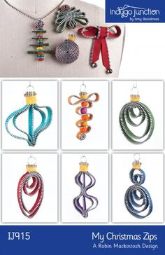 Charming Christmas ornaments and jewelry.  My Christmas Zips Pattern IJ-915 by Indygo Junction - Amy Barickman.  Check out our sewing for the home patterns. https://www.pinterest.com/quiltwomancom/sewing-for-the-home/  Subscribe to our mailing list for updates on new patterns and sales! http://visitor.constantcontact.com/manage/optin?v=001nInsvTYVCuDEFMt6NnF5AZm5OdNtzij2ua4k-qgFIzX6B22GyGeBWSrTG2Of_W0RDlB-QaVpNqTrhbz9y39jbLrD2dlEPkoHf_P3E6E5nBNVQNAEUs-xVA%3D%3D