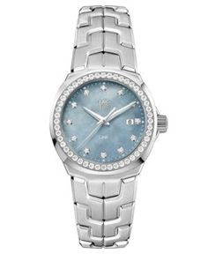 Tag Heuer Women's Swiss Link Diamond (3/4 ct. t.w.) Stainless Steel Bracelet Watch 32mm