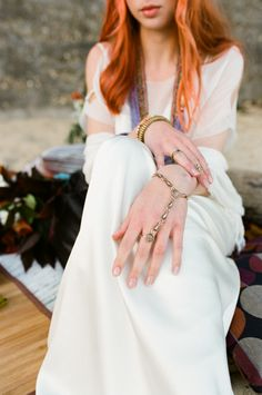Today we have a shoot to inspire the bohemian bride that isn't afraid of a bit of color! We love the way photographer Eulanda Shead blended the chic simplicity of with bold styling and. Bohemian Bride, The Chic, Bridal Style, Moroccan, Wedding Dresses, Bordeaux, Inspiration, Beauty, Color