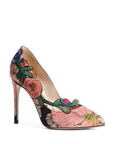 290331f803f Gucci Ophelia Embroidered High-Heel Pumps Shoes - Bloomingdale s