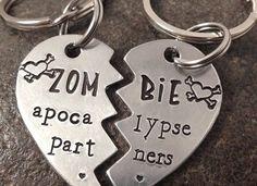 Zombie apocalypse partners funny necklace