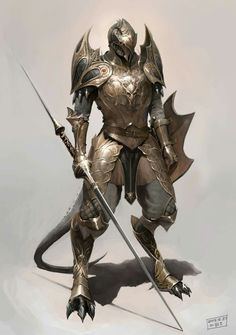'what race. [Random Fantasy/RPG artwork I find interesting,(*NOT MINE) from Tolkien to D&D.hope you enjoy it! Dragon Knight, Knight Armor, Dragon Armor, Fantasy Armor, Medieval Fantasy, Dark Fantasy, Dnd Characters, Fantasy Characters, Character Concept