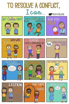 Poster in Conflict Resolution Bundle To Help Your Students Resolve Conflicts On Their Own Teachers! Poster in Conflict Resolution Bundle To Help Your Students Resolve Conflicts On Their Own Social Emotional Activities, Counseling Activities, Therapy Activities, Anti Bullying Activities, Health Activities, Educational Activities For Kids, Coping Skills, Life Skills, Social Skills Lessons