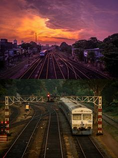 Train tracks in Colombo at sunset, Sri Lanka Sri Lanka, Beautiful Islands, Beautiful Places, Cultural Capital, Island Nations, Train Tracks, Sandy Beaches, Continents, Sunsets