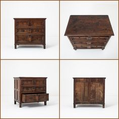 Handsome late 17th Century oak chest of drawers with lovely colour and panelled sides.... #patina #brownfurniture #antiquefurniture #chestofdrawers #antiquedrawers #cottagedecor #englishantiques #bedroomfurniture #antiquestorage Brown Furniture, Antique Furniture, Bedroom Furniture, Chest Of Drawers, 17th Century, Decorative Boxes, Handsome, Colour, Storage