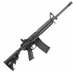 S&W M&P15 Sport AR-15 Semi Auto Rifle 5.56mm NATO 16 Barrel 30 Rounds 6 Position Stock Fixed Front Sight Polymer Handguard Black 811036