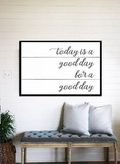 Today is a Good Day Shiplap Home Decor Shiplap Sign Good Day Farmhouse Wall Decor House Rustic Home Decor Rustic Framed Poster Gift for Her by WallsOfWisdomCo