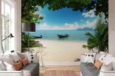 Fotobehang - Phi Phi Eilanden - 366 x 254 cm - Multi Phi Phi Island, Photo Wall, Home And Garden, Pastel, Tapestry, Wall Photos, Wallpaper, Bedroom, Outdoor Decor
